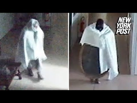 Thief dressed as ghost caught stealing art from senior citizen home | New York Post