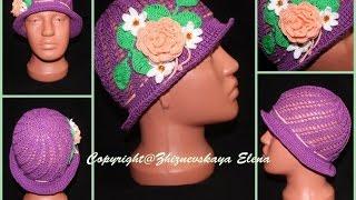 Вязание панамки крючком / panamku for girls crocheted