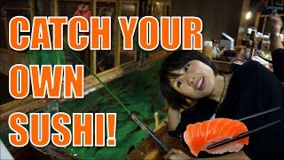 A sushi restaurant where you catch your own fish! 「ざうお」魚釣り居酒屋☆