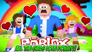 Minecraft ROBLOX: ALL THE GIRLS LOVE LITTLE DONNY!! Roblox OBBY!!