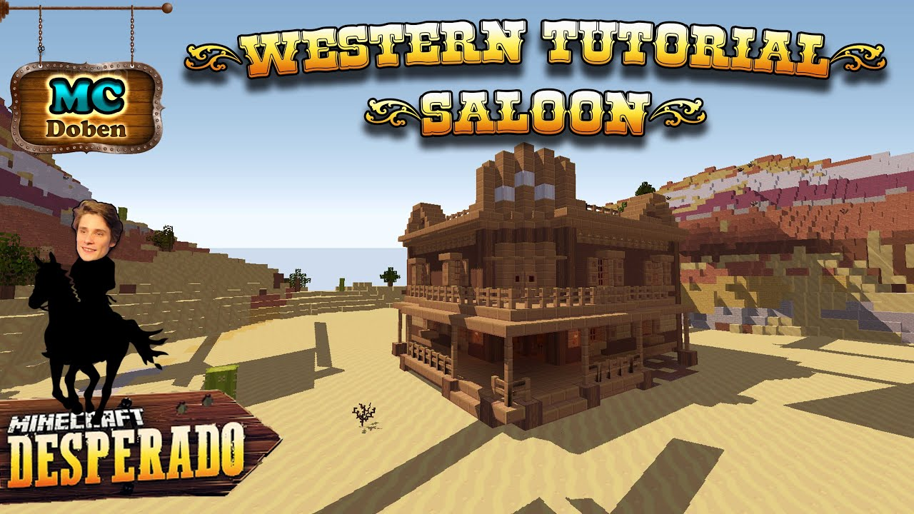 Minecraft Western Tutorial Saloon Minecraft Desperado YouTube - Minecraft redstone hauser bauen