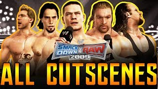 WWE SVR 2009 | Road To Wrestlemania All Cutscenes Full Movie PS3/Xbox 360 1080p