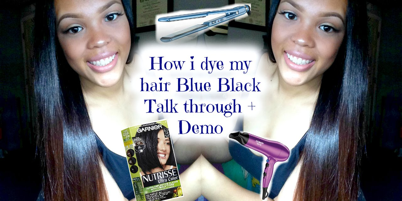 How I Dye My Hair Blue Black Talk Through Demo Youtube