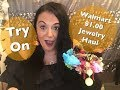 Walmart $1.00 Jewelry Haul l Try On l Rosa's Beauty Fashion 😘
