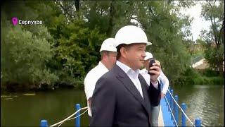 Губернатор Воробьев сообщил, что мост через Нару в Серпухове запустят до Нового года