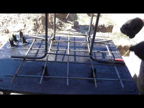 Столбчатый фундамент. (#2). Армокаркас столба и пятки.