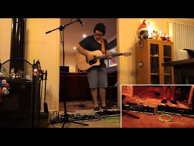 With Or Without You-Live Looping Cover by Dave Quinn