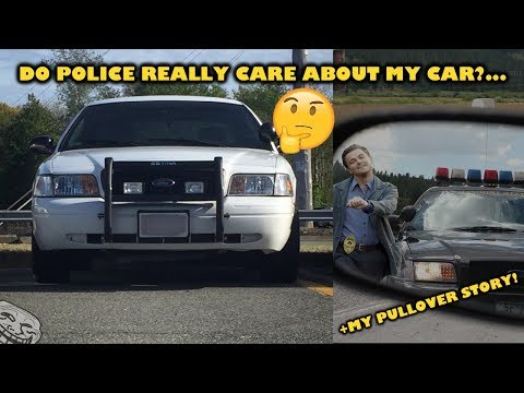 Do police really care if you drive an ex cop car?!