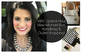 MAC Lipstick Haul, New Michael Kors Handbag & Outlet Shopping! | Lauren