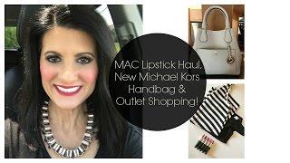 MAC Lipstick Haul, New Michael Kors Handbag & Outlet Shopping! | Lauren's Vlog thumbnail