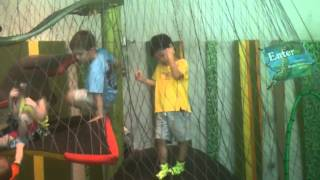 Yamato at the indoor jungle gym at Lincoln Park Zoo - Part 2