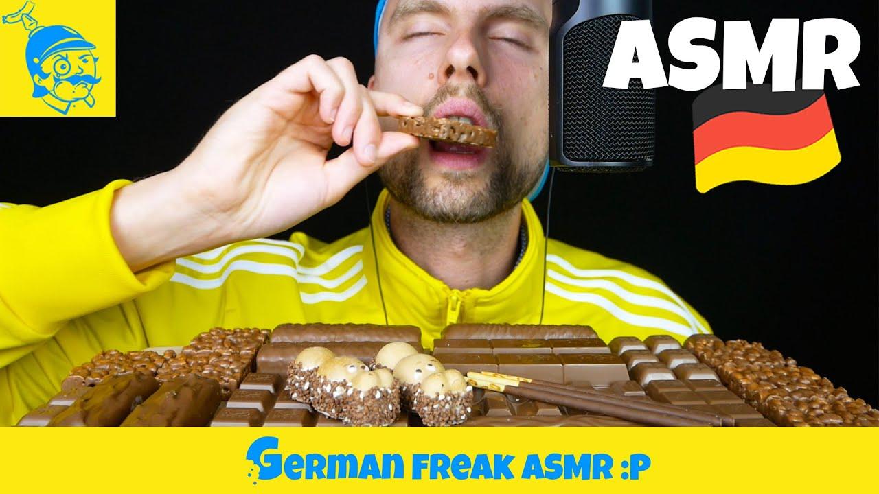 ASMR 12 BEST ASSORTED CHOCOLATE CANDY BARS in GERMANY 🇩🇪 (German ASMR) - GFASMR