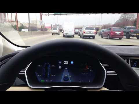 Tesla HW2 Autopilot Chicago traffic I 90 94