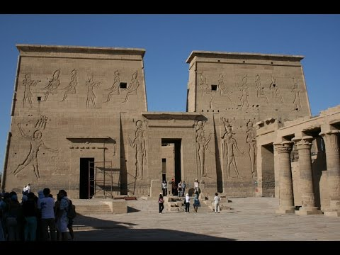 Minecraft 11500 BC historic reconstuction of ancients Egypt Philae Temple of Isis