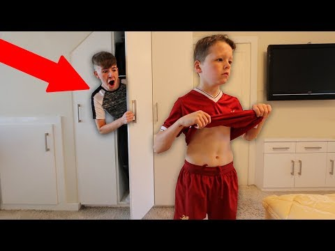 I Spent the Night in my Little Brother's Room & He had No Idea... (24 HOUR CHALLENGE)