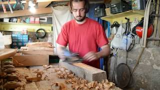 DIY chevilles bois pour assemblage charpente traditionnelle wood peg subtittled