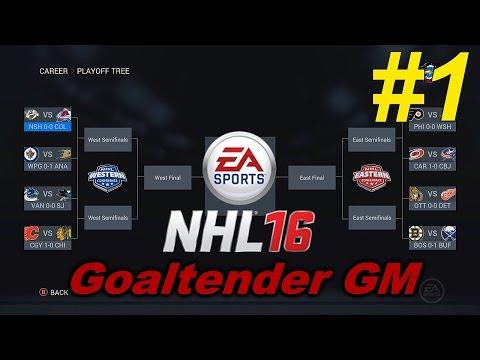 NHL 16 – Goaltender GM – Episode 1: The Fantasy Draft