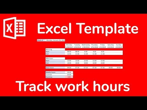 Excel Template Timesheet To Track Weekly Work Hours And Overtime Doctor Excel 066 Youtube
