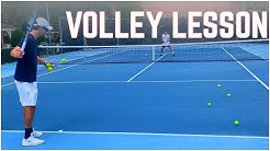 Tennis Volley Lesson With 5.5 NTRP Player | Drills to Improve Net Game