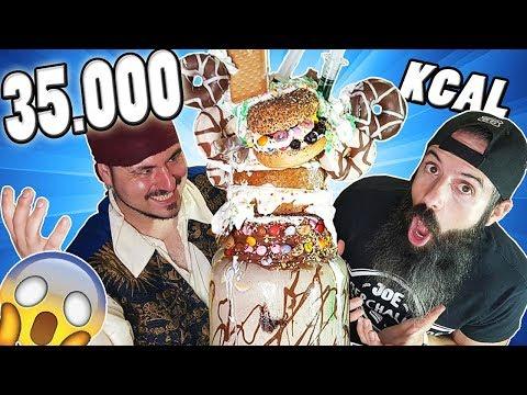 EL INCREIBLE BATIDO DE 35.000 KCAL!!!😲 El Pirata Vs Joe Burger 6 🔥🔥🔥