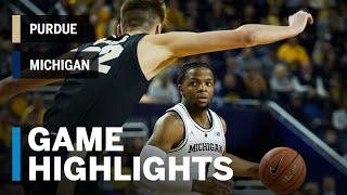 Extended Highlights: Purdue at Michigan | Big Ten Basketball