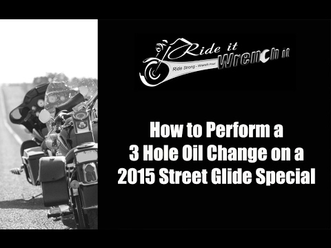 How to Perform a 3 Hole Oil Change on a 2015 Harley Street G