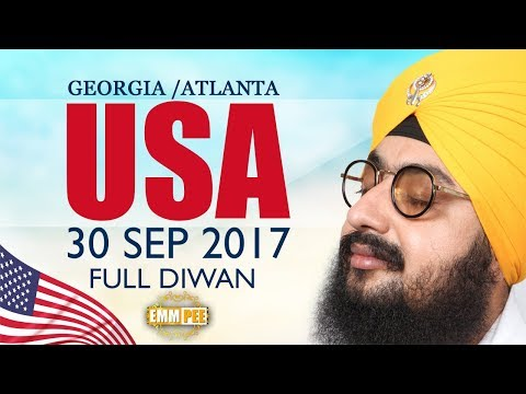 GEORGIA DIWAN | USA | 30 Sep 2017 | Full Diwan | Bhai Ranjit Singh Khalsa Dhadrianwale