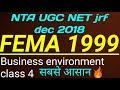 Fema 1999 ugc net Commerce management | Class 4🔥