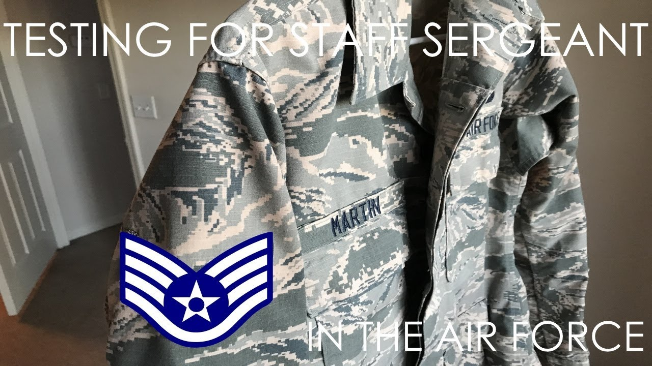 Testing For Staff Sergeant In The Air Force (E-5) - YouTube