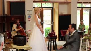 Bride writes surprise song for husband