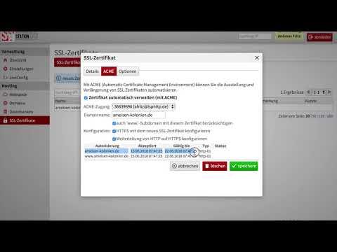 Kostenlose SSL Zertifikate über LiveConfig registrieren | HOSTING ...