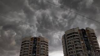 Шторм в Москве 30.06.17 Таймлапс как пришла буря