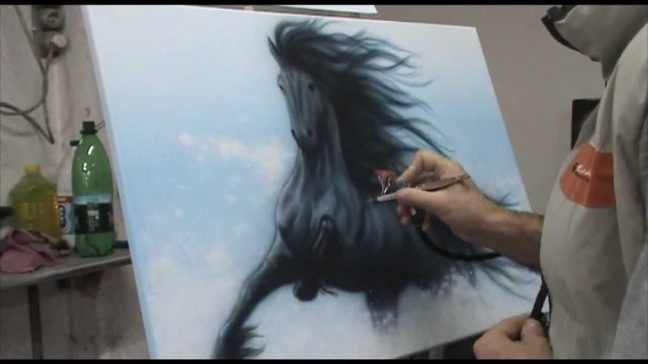 Black Spray Paint On Horses