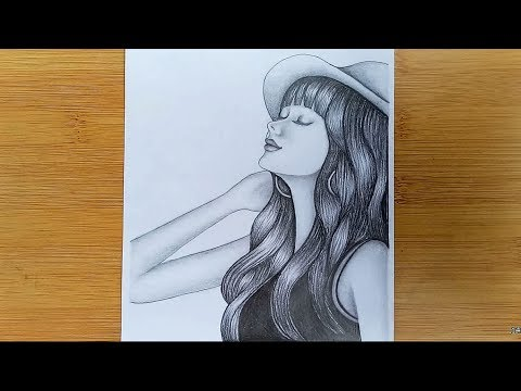35 Latest Long Hair Easy Pencil Sketch Girl Drawing