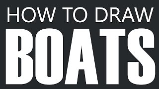 How To Draw A Boat - Racing Speed Boat Drawing (Small Boat Class)