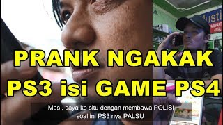 PRANK! CONSOLE PS3 MINTA DI ISI GAME PS4 wkwkw