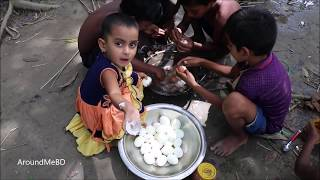 Cute Cooking Show Of 3-5 Years Kids / Tasty Fried Eggs Cooking By Baby Sneyha For Evening Snacks