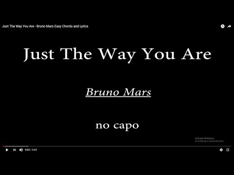 Just The Way You Are - Bruno Mars Easy Chords and Lyrics