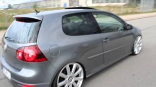 VW Golf 5 GTI R32 Heck Auspuff Links 20Zoll Audi Felgen Bi-Turbo mit Gewinde HD