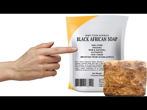 African Black Soap Review  Mary Tylor Naturals Black Soap For Acne