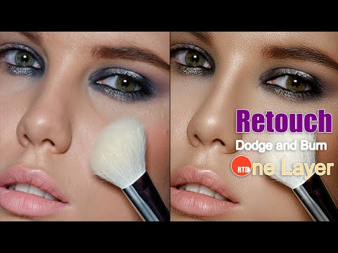Retouch Beauty Dodge and Burn bằng một Layer!