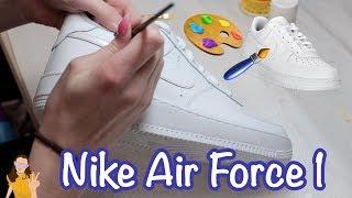 Painting my Nike Air Force 1's 😱 Shoe Customization   Kelli Maple