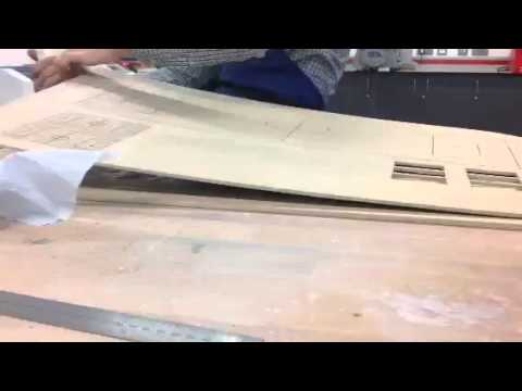 Using pva to stick the bottom 2 boards