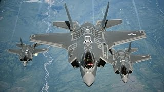 US Military MOST ADVANCED F-35 Aircraft Arrive at UK Military Air base