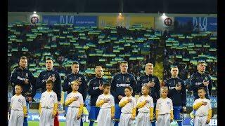 Виконання гімну України вболівальниками на різних стадіонах