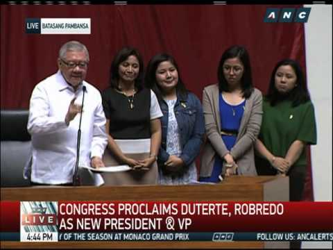 Proclamation seals VP-elect Robredo's stunning win