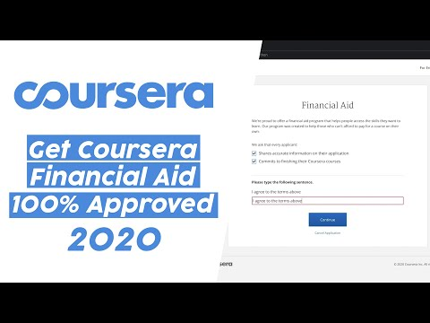 How To Get Coursera Financial Aid 100% Accepted In 2020