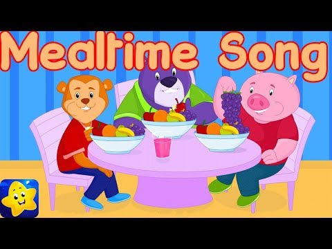 Mealtime Song For Kids | Time To Eat | English Nursery Rhymes For Toddlers