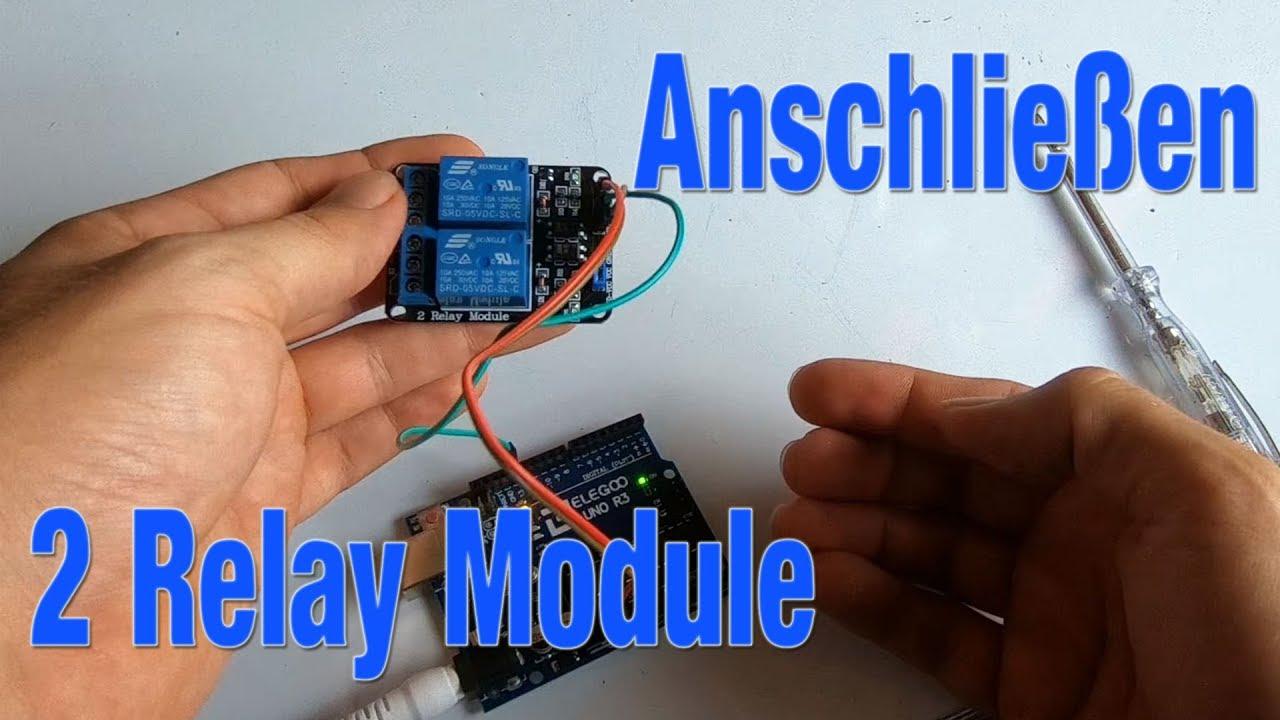 T U00fcre 15 - 2 Module Relais Anschlie U00dfen Arduino