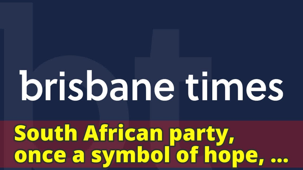South african party once a symbol of hope turns to a new leader south african party once a symbol of hope turns to a new leader buycottarizona Image collections